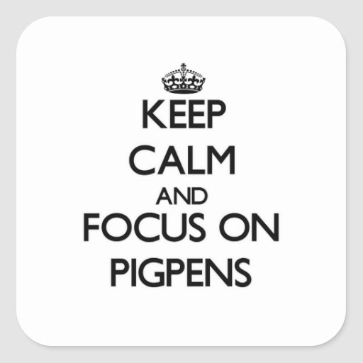 Keep Calm and focus on Pigpens Square Sticker