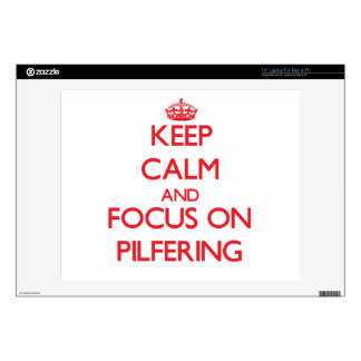 Keep Calm and focus on Pilfering Laptop Decals