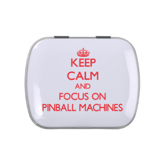 Keep Calm and focus on Pinball Machines Jelly Belly Candy Tin