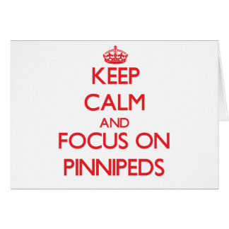 Keep calm and focus on Pinnipeds Cards