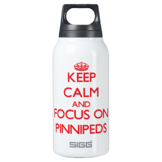 Keep calm and focus on Pinnipeds 10 Oz Insulated SIGG Thermos Water Bottle