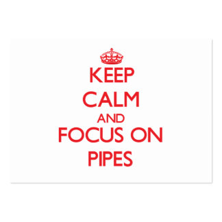 Keep Calm and focus on Pipes Large Business Cards (Pack Of 100)