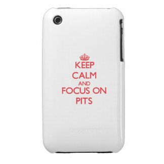 Keep Calm and focus on Pits Case-Mate iPhone 3 Case