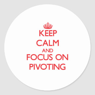 Keep Calm and focus on Pivoting Sticker