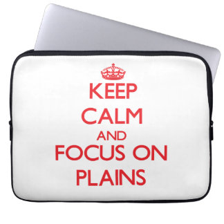 Keep Calm and focus on Plains Laptop Computer Sleeve