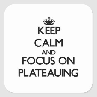 Keep Calm and focus on Plateauing Stickers