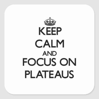 Keep Calm and focus on Plateaus Sticker