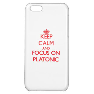 Keep Calm and focus on Platonic iPhone 5C Cover
