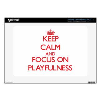 Keep Calm and focus on Playfulness Samsung Chromebook Skins