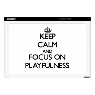 Keep Calm and focus on Playfulness Laptop Decals