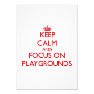 Keep Calm and focus on Playgrounds Announcement
