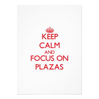 Keep Calm and focus on Plazas Custom Invite