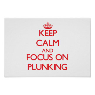 Keep Calm and focus on Plunking Posters
