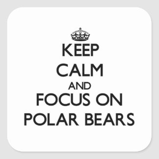 Keep Calm and focus on Polar Bears Square Sticker