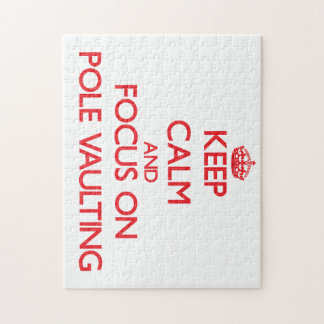 Keep Calm and focus on Pole Vaulting Jigsaw Puzzle