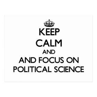 Keep calm and focus on Political Science Postcard