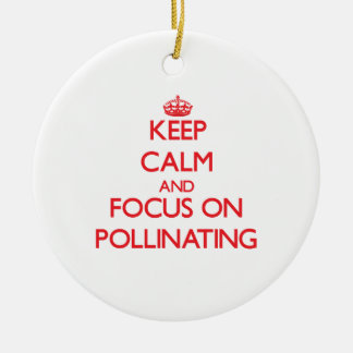 Keep Calm and focus on Pollinating Ornament