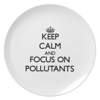 Keep Calm and focus on Pollutants Plates