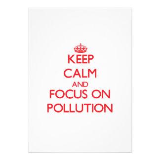 Keep Calm and focus on Pollution Invitation