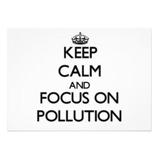 Keep Calm and focus on Pollution Custom Invite