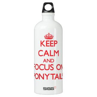 Keep Calm and focus on Ponytails SIGG Traveler 1.0L Water Bottle