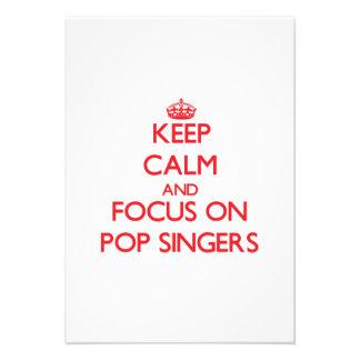 Keep Calm and focus on Pop Singers Custom Invitation