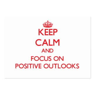 Keep Calm and focus on Positive Outlooks Large Business Cards (Pack Of 100)