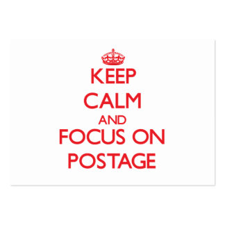 Keep Calm and focus on Postage Large Business Cards (Pack Of 100)
