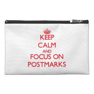 Keep Calm and focus on Postmarks Travel Accessory Bag