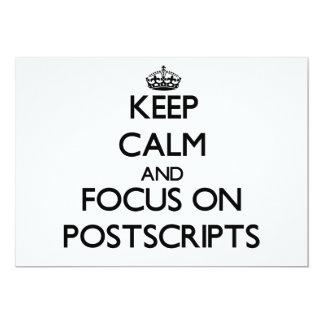 Keep Calm and focus on Postscripts Custom Invitations