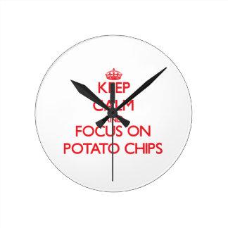 Keep Calm and focus on Potato Chips Clocks