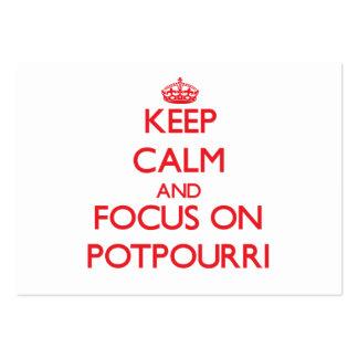 Keep Calm and focus on Potpourri Business Card Template