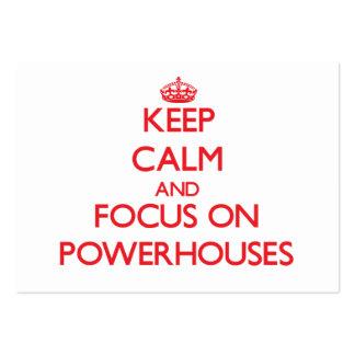 Keep Calm and focus on Powerhouses Business Cards