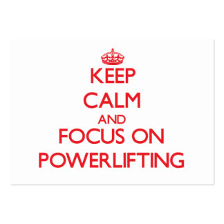 Keep calm and focus on Powerlifting Business Card Template