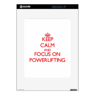 Keep calm and focus on Powerlifting Skin For The iPad