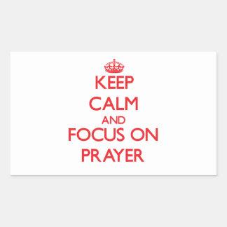 Keep Calm and focus on Prayer Sticker