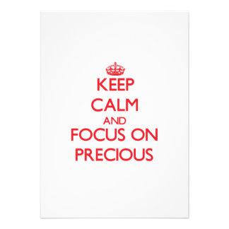 Keep Calm and focus on Precious Announcements