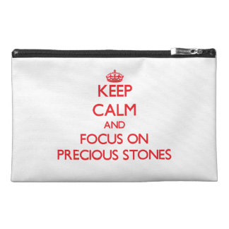 Keep Calm and focus on Precious Stones Travel Accessories Bags