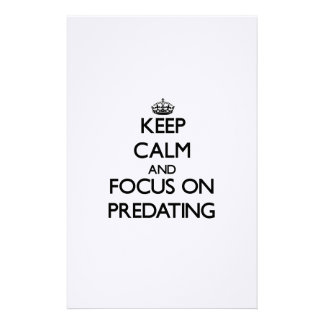 Keep Calm and focus on Predating Customized Stationery