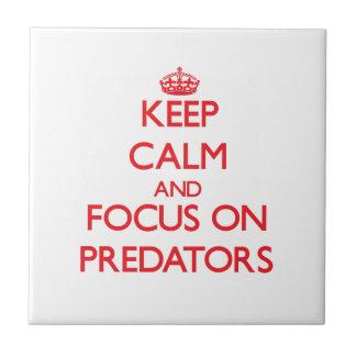 Keep Calm and focus on Predators Ceramic Tiles