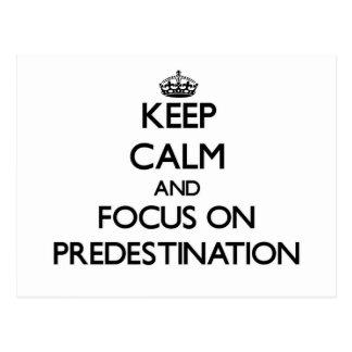 Keep Calm and focus on Predestination Postcard