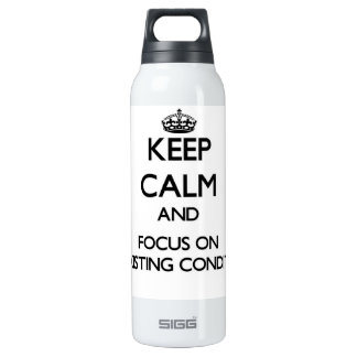 Keep Calm and focus on Preexisting Conditions 16 Oz Insulated SIGG Thermos Water Bottle