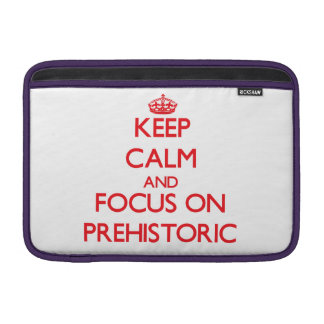 Keep Calm and focus on Prehistoric Sleeves For MacBook Air