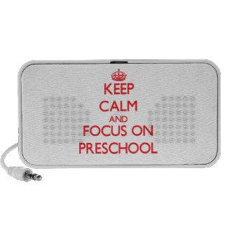 Keep Calm and focus on Preschool Notebook Speaker