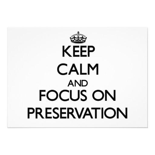 Keep Calm and focus on Preservation Custom Invites