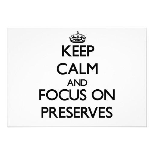 Keep Calm and focus on Preserves Card