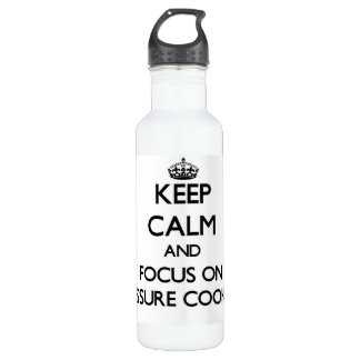 Keep Calm and focus on Pressure Cookers 24oz Water Bottle