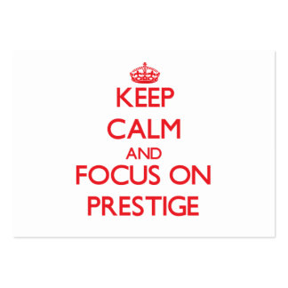 Keep Calm and focus on Prestige Business Card Templates