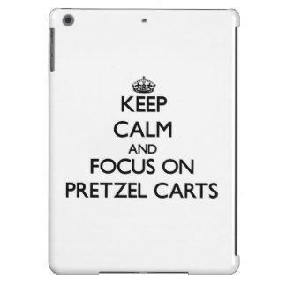 Keep Calm and focus on Pretzel Carts iPad Air Cases