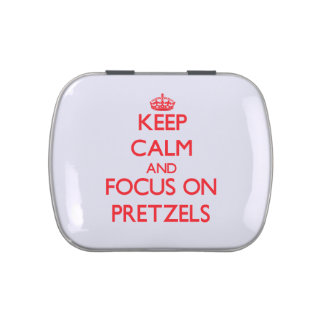 Keep Calm and focus on Pretzels Candy Tins